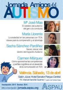 Cartel Jornada Amigos del Autismo ASPAU